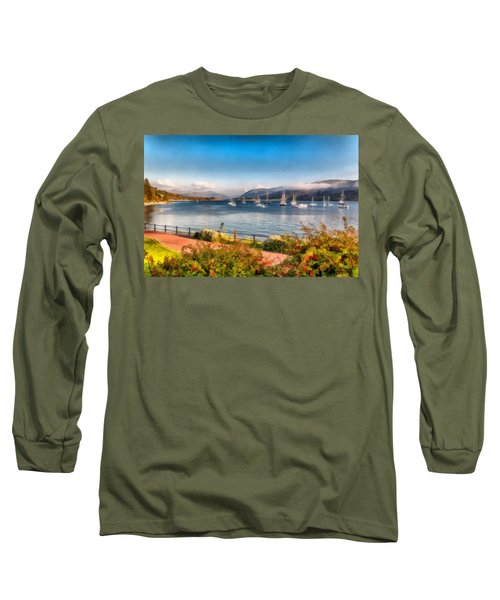 Gulf Of  Ullapool      Long Sleeve T-Shirt by Sergey Simanovsky