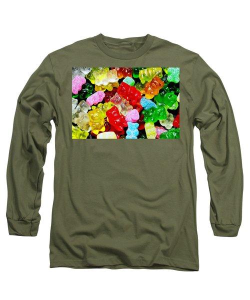 Gummy Bears Long Sleeve T-Shirt by Vivian Krug Cotton