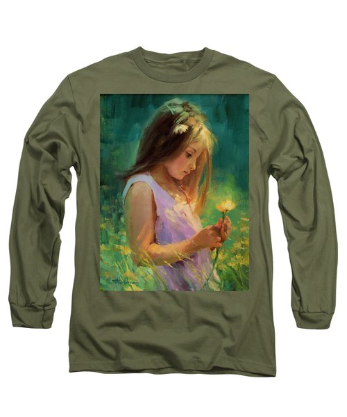 Long Sleeve T-Shirt featuring the painting Hailey by Steve Henderson