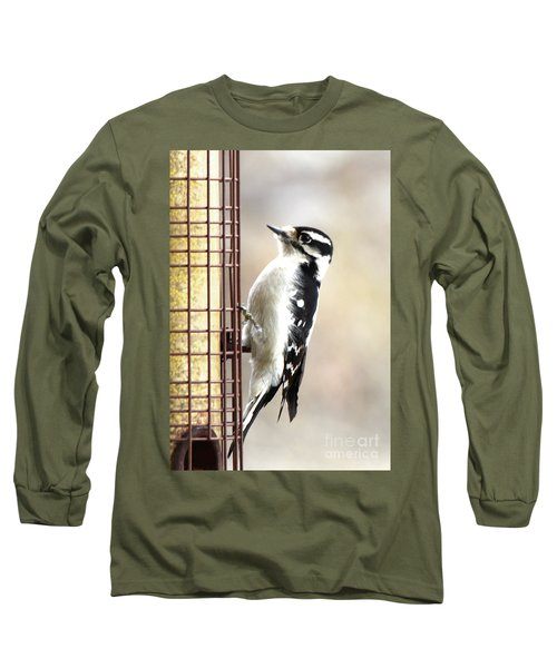 Hairy Woodpecker Long Sleeve T-Shirt