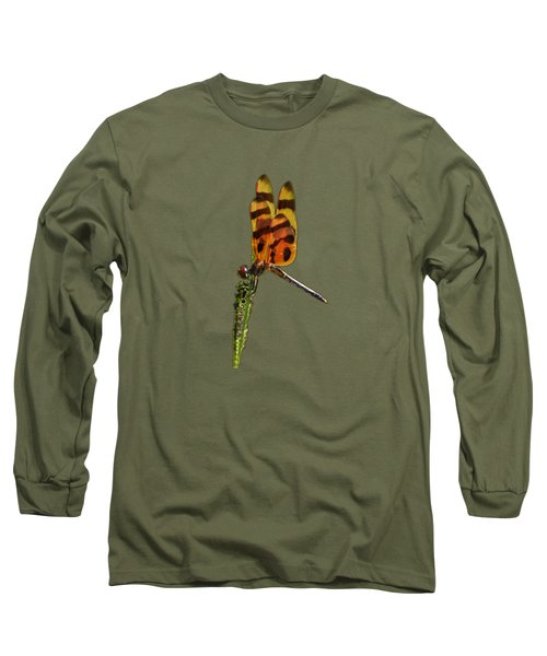 Long Sleeve T-Shirt featuring the photograph Halloween Pennant Dragonfly .png by Al Powell Photography USA