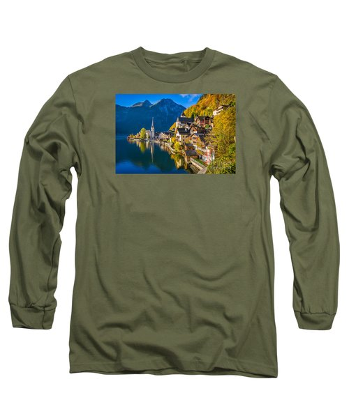 Hallstatt In Fall Long Sleeve T-Shirt by JR Photography