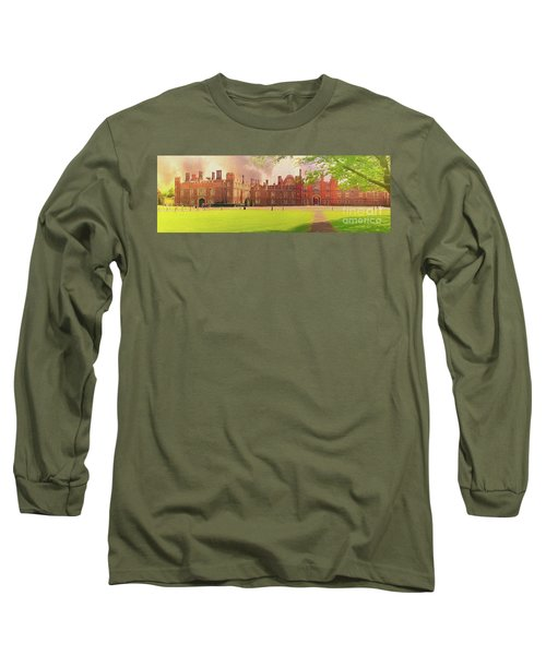 Long Sleeve T-Shirt featuring the photograph Hampton Court Palace Panorama by Leigh Kemp