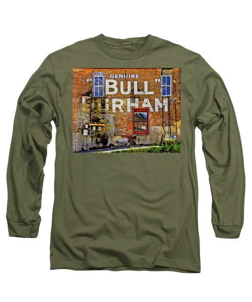 Long Sleeve T-Shirt featuring the photograph Handpainted Sign On Brick Wall by David and Carol Kelly