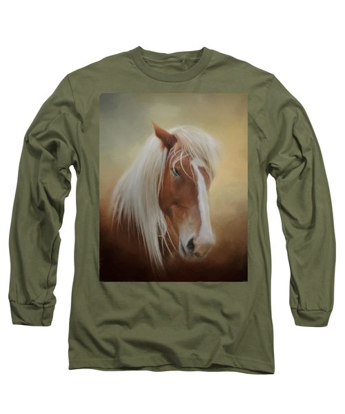 Handsome Belgian Horse Long Sleeve T-Shirt by David and Carol Kelly