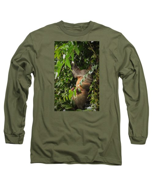 Long Sleeve T-Shirt featuring the photograph Hang On Mom by Pamela Blizzard