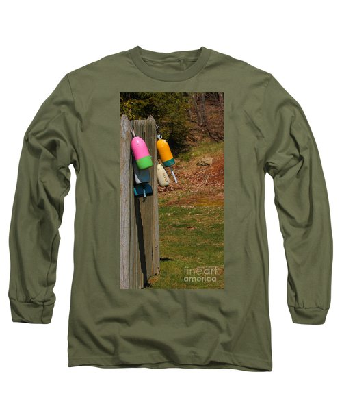 Long Sleeve T-Shirt featuring the photograph Hanging Buoys by Debbie Stahre