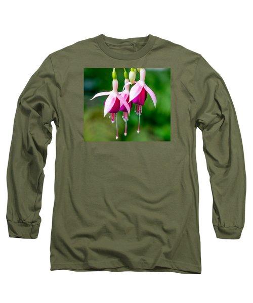 Hanging Flowers  Long Sleeve T-Shirt by Derek Dean