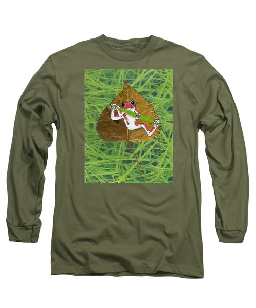 Hanging On Long Sleeve T-Shirt by Ralph Root