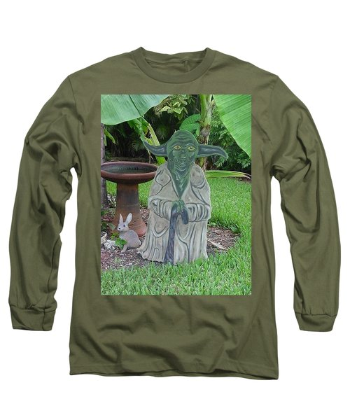 Hanging Out In The Garden Long Sleeve T-Shirt by Val Oconnor