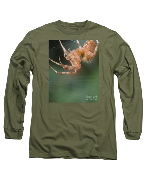 Hanging Spider Long Sleeve T-Shirt by Christina Verdgeline