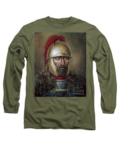 Hannibal Barca Long Sleeve T-Shirt by Arturas Slapsys