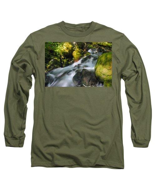 Hanson Falls Long Sleeve T-Shirt by Larry Ricker