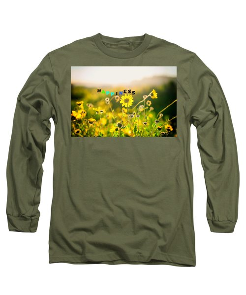 Happiness Long Sleeve T-Shirt by Joseph S Giacalone