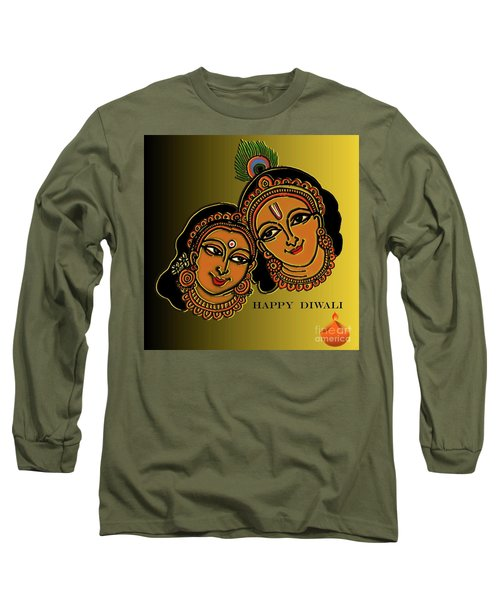 Happy Diwali Long Sleeve T-Shirt by Latha Gokuldas Panicker
