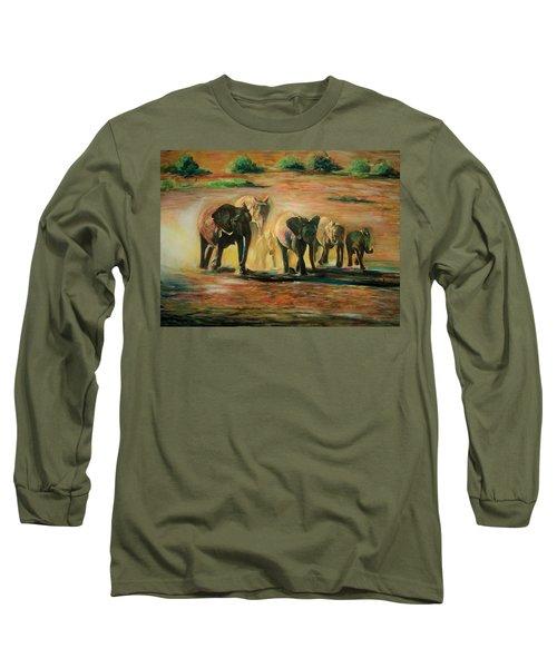 Happy Family Long Sleeve T-Shirt by Khalid Saeed