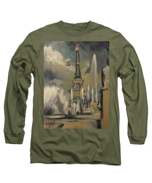 Happy Fountains At Trocadero Long Sleeve T-Shirt