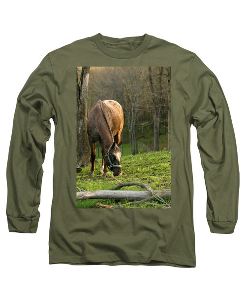 Happy Grazing Long Sleeve T-Shirt by Angela Rath