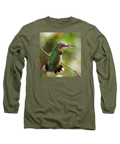 Happy Hummingbird Long Sleeve T-Shirt