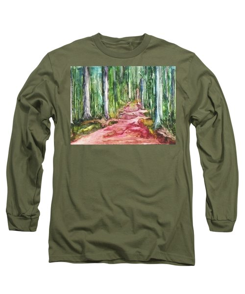 Long Sleeve T-Shirt featuring the painting Happy Trail by Anna Ruzsan