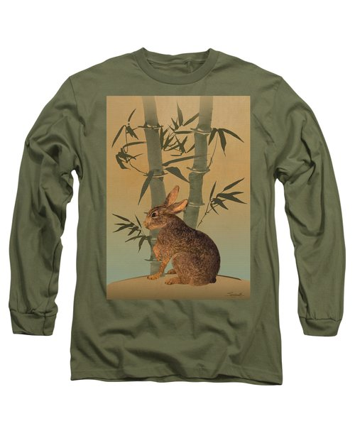 Hare Under Bamboo Tree Long Sleeve T-Shirt