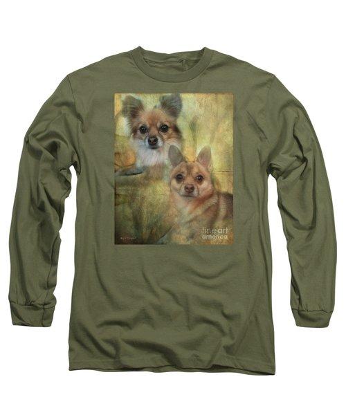 Long Sleeve T-Shirt featuring the digital art Harley Girl N Bear by Rhonda Strickland