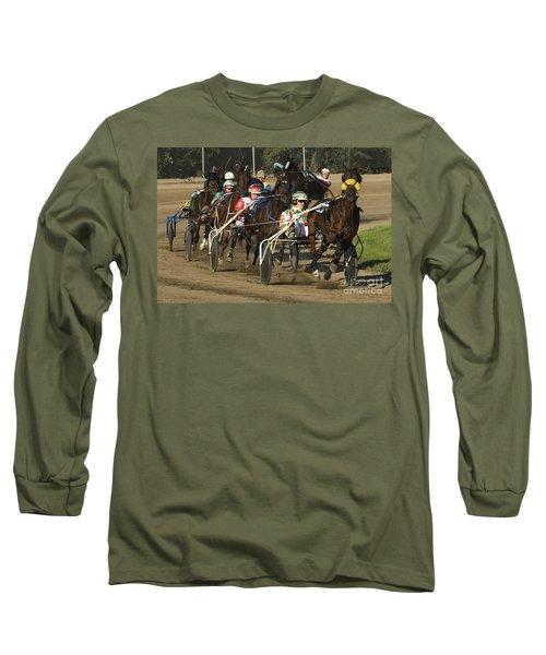 Harness Racing 9 Long Sleeve T-Shirt by Bob Christopher