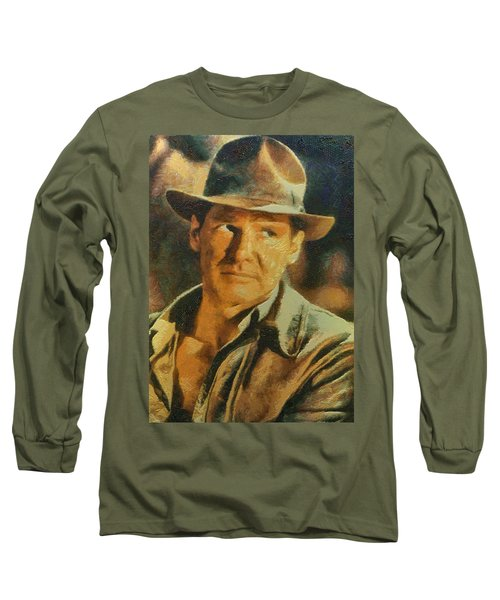 Harrison Ford As Indiana Jones Long Sleeve T-Shirt