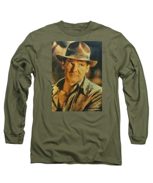 Harrison Ford As Indiana Jones Long Sleeve T-Shirt