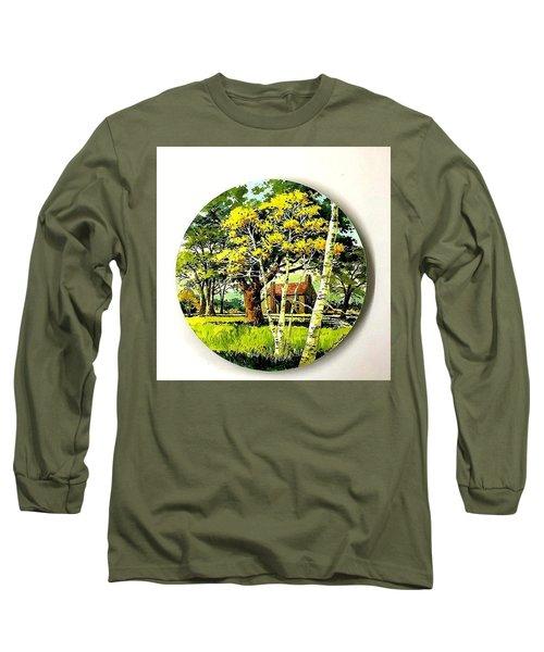 Harvest Moon Landscape Long Sleeve T-Shirt