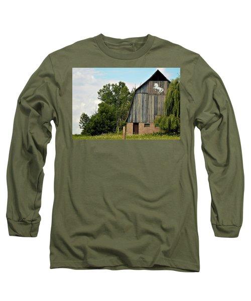 0017 - Hassler Lake Road Horse Barn Long Sleeve T-Shirt