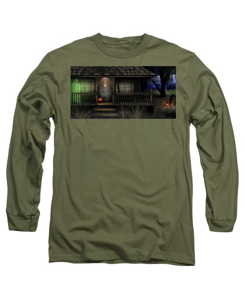 Long Sleeve T-Shirt featuring the digital art Haunted Halloween 2016 by Anthony Citro