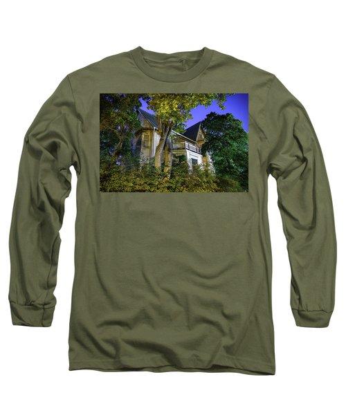 Haunted House Long Sleeve T-Shirt by Teemu Tretjakov