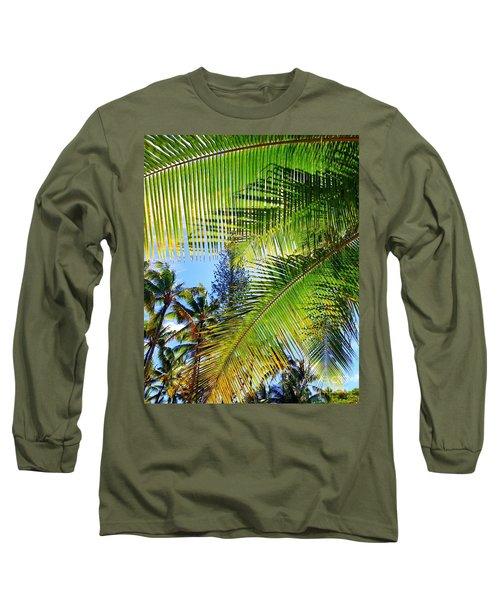 Hawaiian Palm Long Sleeve T-Shirt