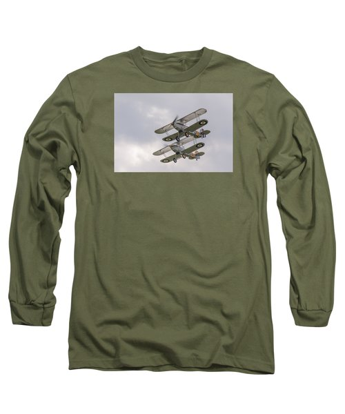 Hawker Nimrods Long Sleeve T-Shirt by Gary Eason