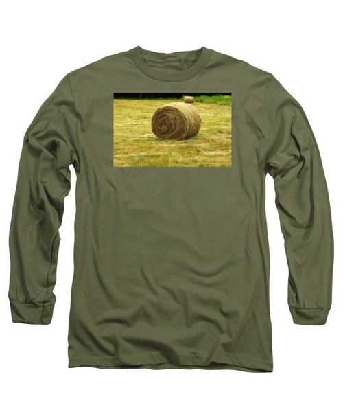 Long Sleeve T-Shirt featuring the photograph Hay Bale  by Bruce Carpenter