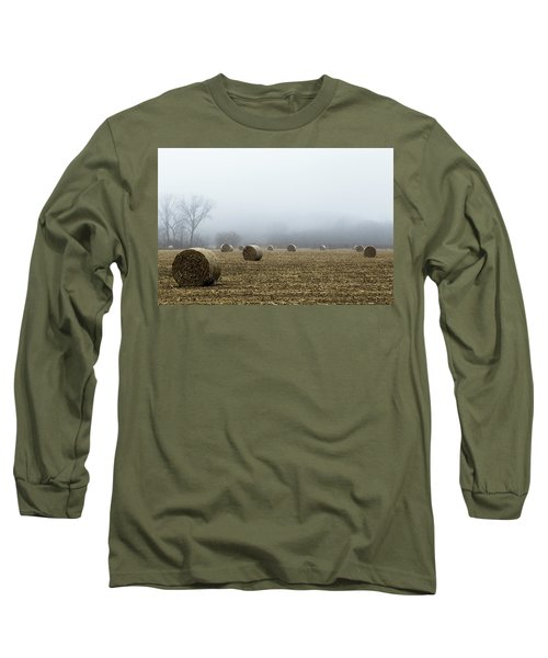 Hay Bales In A Field Long Sleeve T-Shirt