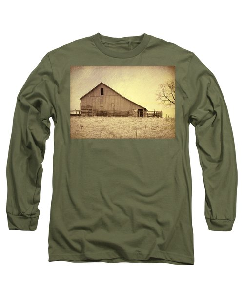 Long Sleeve T-Shirt featuring the photograph Hay Barn by Susan Crossman Buscho