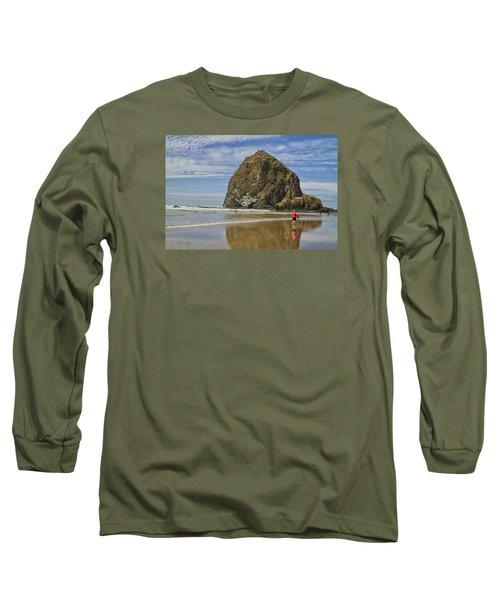 Haystack Rock 0258 Long Sleeve T-Shirt by Tom Kelly