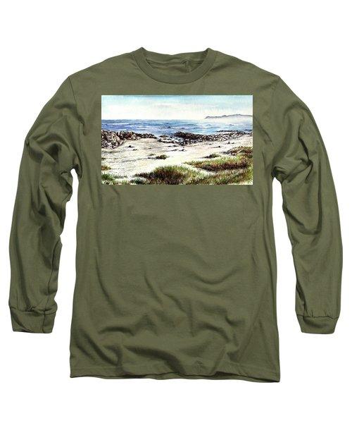 Long Sleeve T-Shirt featuring the painting Hazy Coastline by Heidi Kriel
