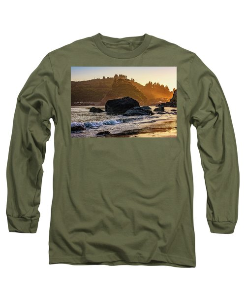 Hazy Golden Hour At Trinidad Harbor Long Sleeve T-Shirt