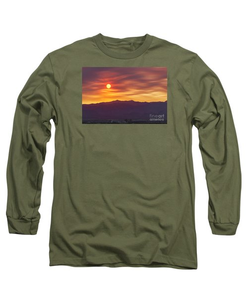 Long Sleeve T-Shirt featuring the photograph Hazy Las Vegas Sunset by Aloha Art