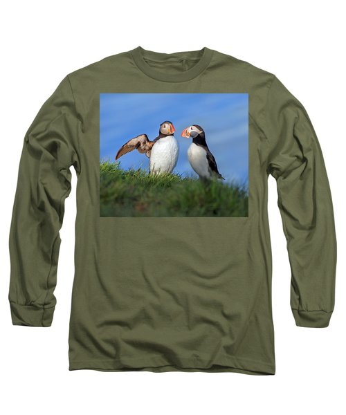 He Went That Way Long Sleeve T-Shirt by Betsy Knapp