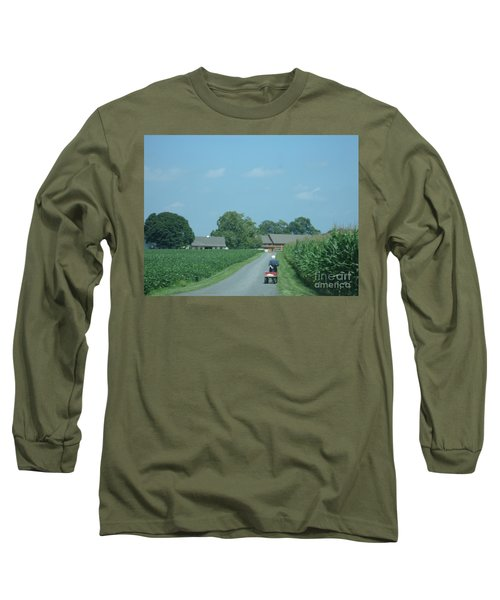 Heading Home From The Market Long Sleeve T-Shirt