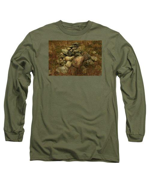 Heap Of Rocks Long Sleeve T-Shirt by Nareeta Martin