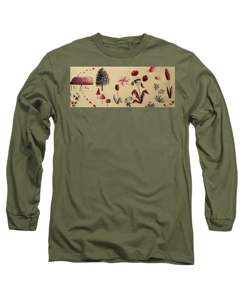 Heart Cottage Red 3 Long Sleeve T-Shirt