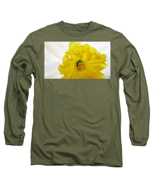Heart Of A Daffodil  Long Sleeve T-Shirt by Danielle  Parent