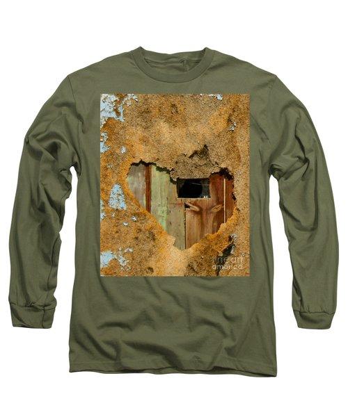 Heart Wall Long Sleeve T-Shirt by Suzanne Lorenz