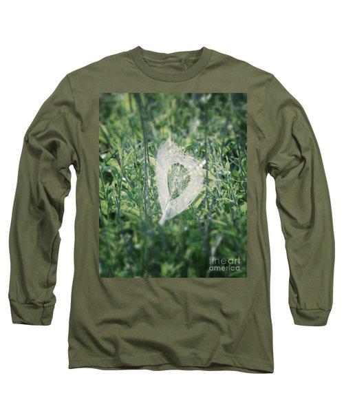 Hearts In Nature - Heart Shaped Web Long Sleeve T-Shirt