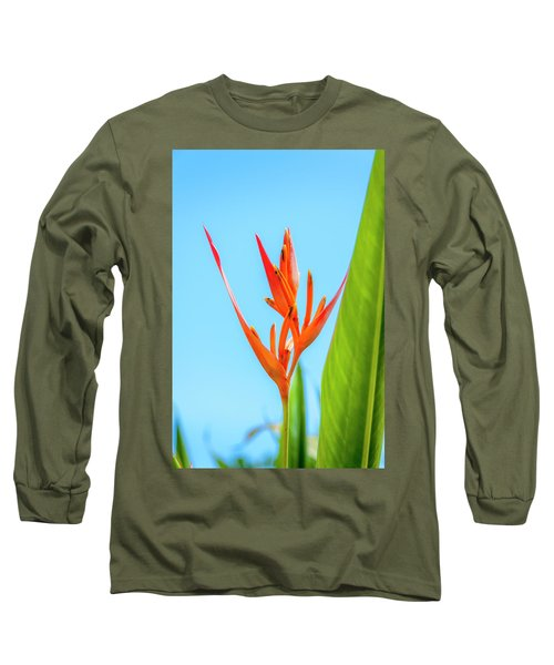 Heliconia Flower Long Sleeve T-Shirt